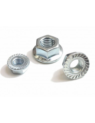 M 8 hexagon nut with flange DIN6923...