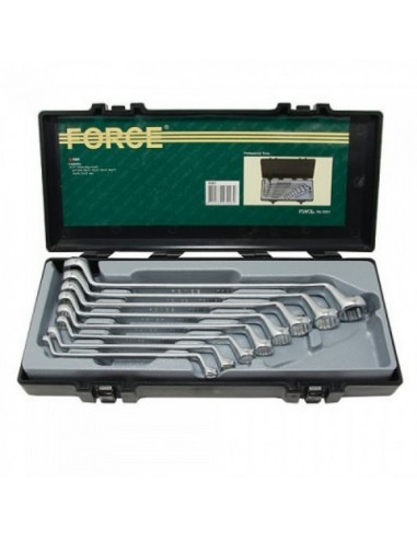 Double ring spanner set ,75° offset