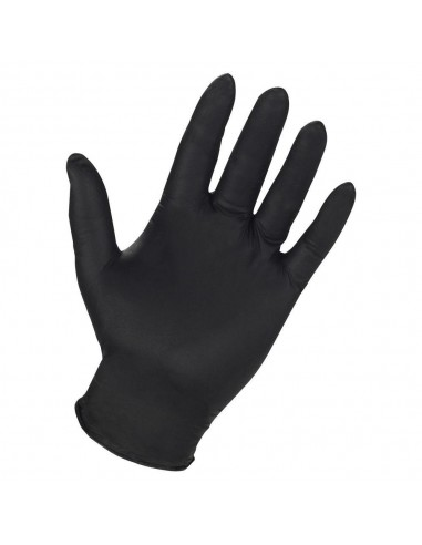 Γάντια μιας χρήσεως μαύρα,νιτριλίου