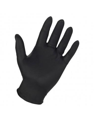 Nitrile disposable gloves black