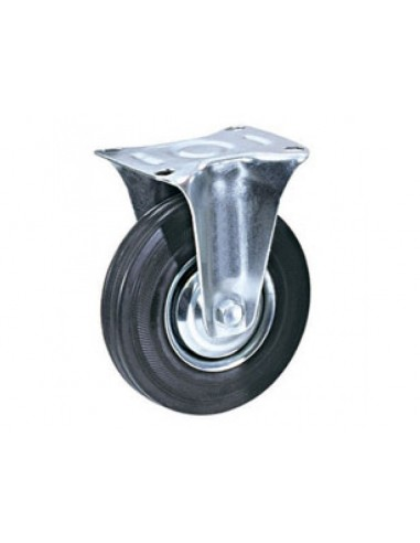 160 mm black rubber industrial fixed...