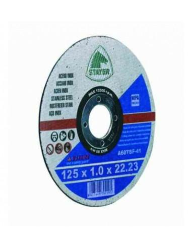 Cutting disc 125 x 1 mm inox