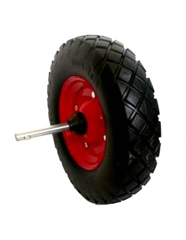 Heavy duty rubber wheelborrow solid...