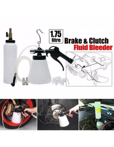 Pneumatic brake fluid bleeder tool