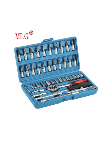 46 PCS socket tool sets 1/4