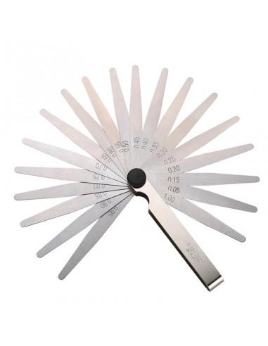 20 blades feeler gauge metric set...