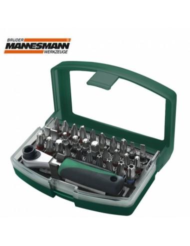 Screw bit set 32pcs Mannesmann 29705