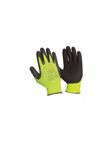 Protective gloves ,nitrile,yellow-black