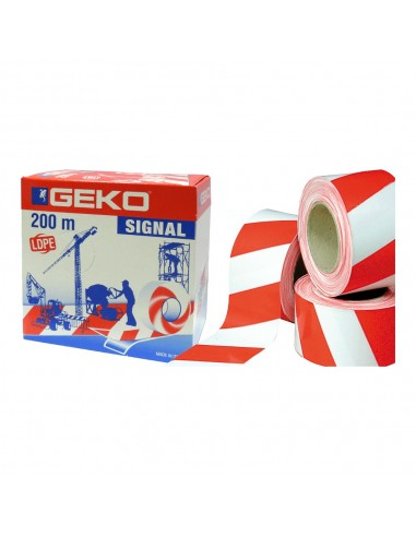 Signal tape,red-white,200m