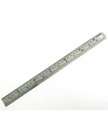 Precision steel rule,30cm,300mm