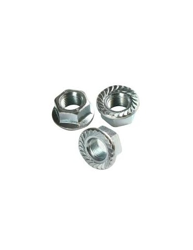 Hexagon nut with flange DIN6923 zing...