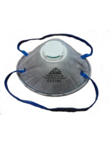 Disposable valved respirator FFP2