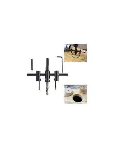 Adjustable hole saw 30 mm - 120 mm