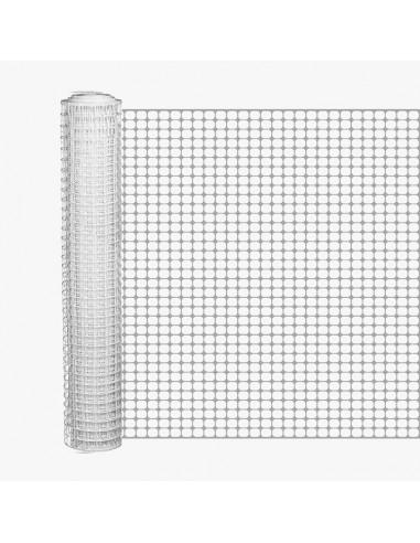 Πλέγμα μπαλκονιών λευκό 1 μέτρου