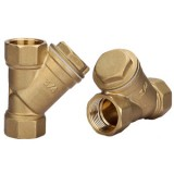 brass Y filter with stainless stel mesh insert